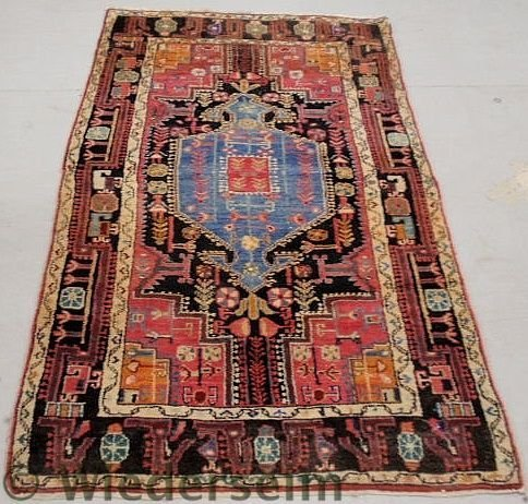 3: Persian oriental hall runner with a blue center m