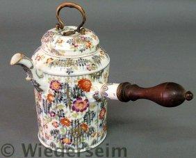 Meissen Porcelain Pot With Colorful Floral Decora