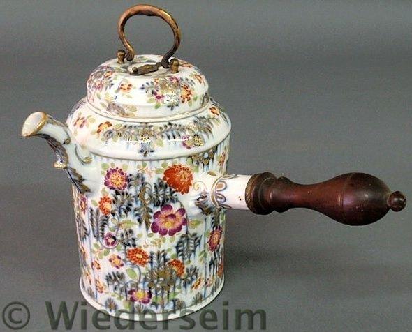 15: Meissen porcelain pot with colorful floral decora