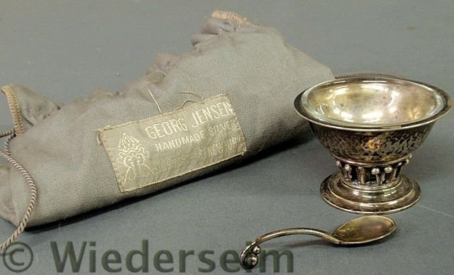27: Georg Jensen, Denmark, c. 1925 silver master salt