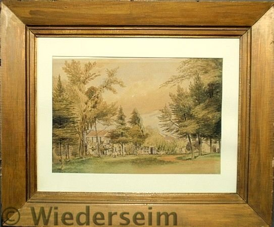 """34: Fine watercolor painting of the """"Rodman Homestead"""