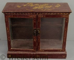 Japanese Painted Display Cabinet, Late 19th C., W