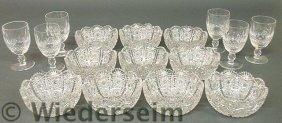 Set Of Ten Cut Glass Finger Bowls 2.5�h.x5.25�dia
