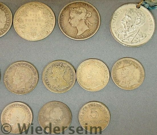 288: Group of foreign coins and medals TI- 1793 Spanis - 3