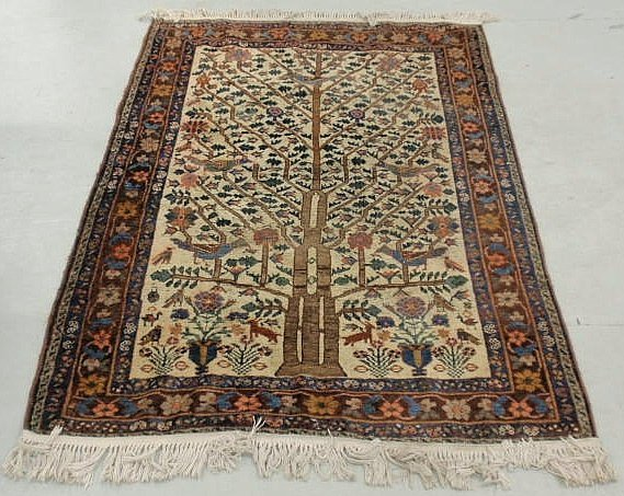 2A: Persian oriental directional carpet with stylized