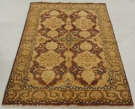 6E: Oriental center hall carpet in muted browns and b