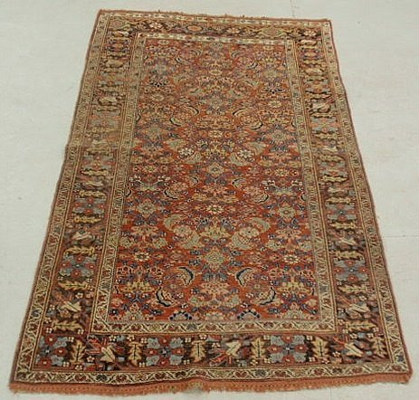 6F: Colorful Persian oriental center hall carpet with