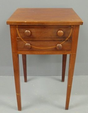 Hepplewhite Mahogany Two-drawer Stand, Early 19th
