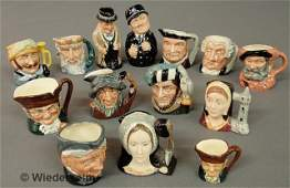 """505: Fourteen Royal Doulton character mugs, tallest """"Wi"""