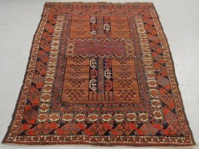 7: Oriental center hall carpet with geometric patterns