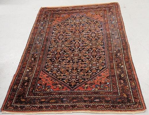 10: Persian oriental center hall carpet with floral pat