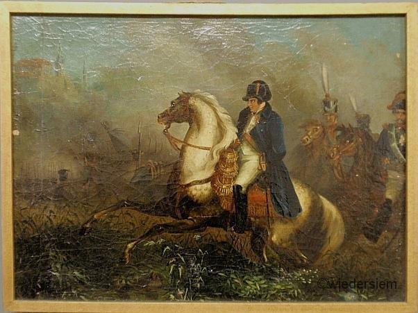 19: Oil on canvas painting of Napoleon Bonaparte, late