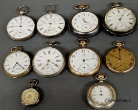 259: Ten gold filled and metal cased pocket watches by