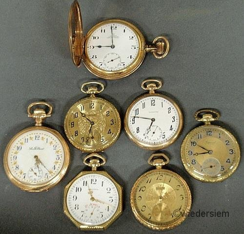 299: Seven gold filled pocket watches by various makers