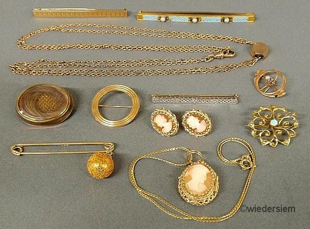 359A: Group of mostly Victorian 14k, 10k gold and unmar
