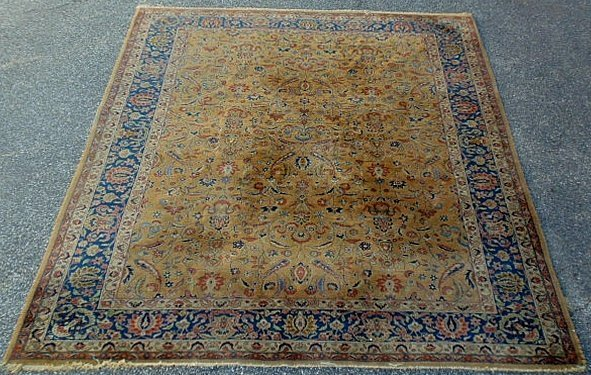 "5D: Room size Indo-Kashan oriental carpet. 11'8""x8'7"""