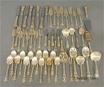 611 Sterling silver flatware service by Lunt in the E