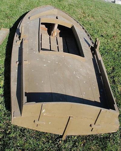 619: Green painted cedar Barnegat Sneak Box duck boat - 4