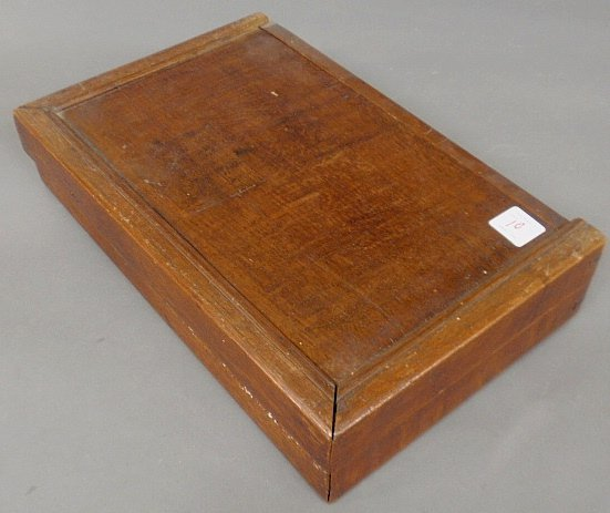 Large inlaid yew wood backgammon set, 18th/19th c. As f - 4