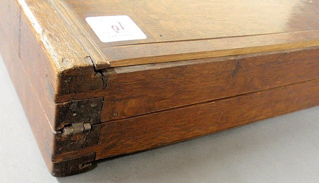 Large inlaid yew wood backgammon set, 18th/19th c. As f - 7