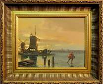 Spitzler Carl Continental 19th20th c oil on board