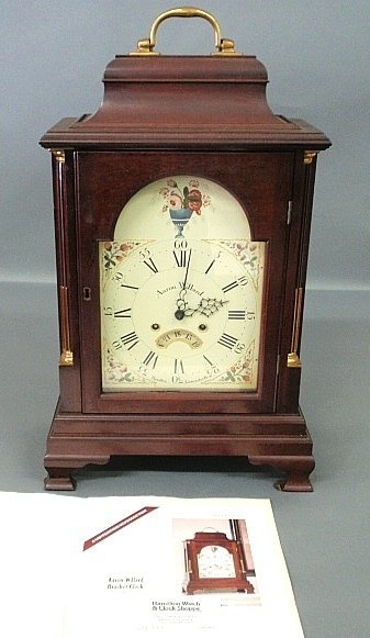 Winterthur Reproduction Aaron Willard bracket clock wit