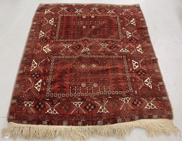 Bokhara oriental carpet with overall geometric