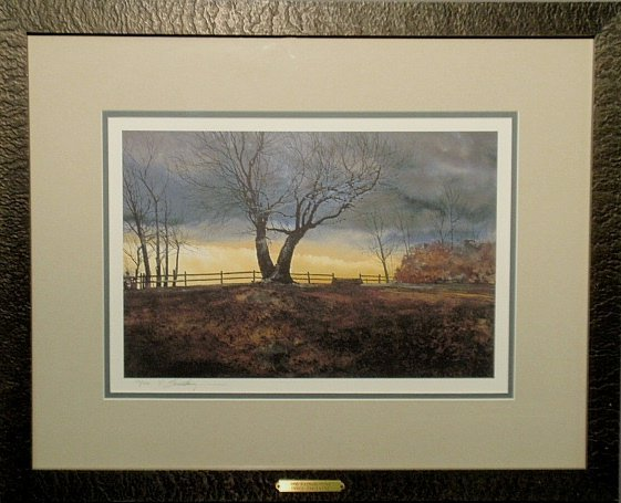 Limited edition Peter Sculthorpe print, Radnor Hunt