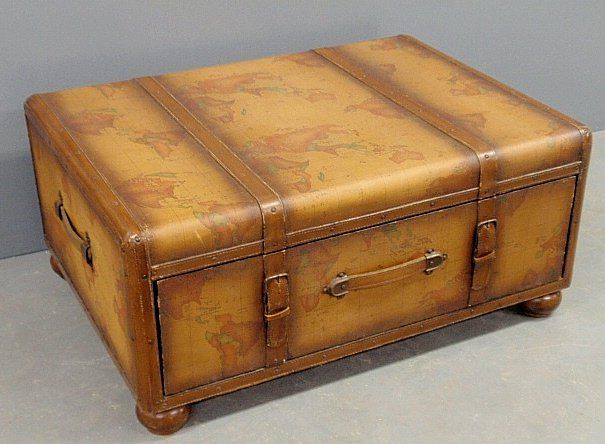 Maitland Smith Travel Trunk Form Coffee Table The Lid Sep 28 2013 Wiederseim Associates Inc In Pa