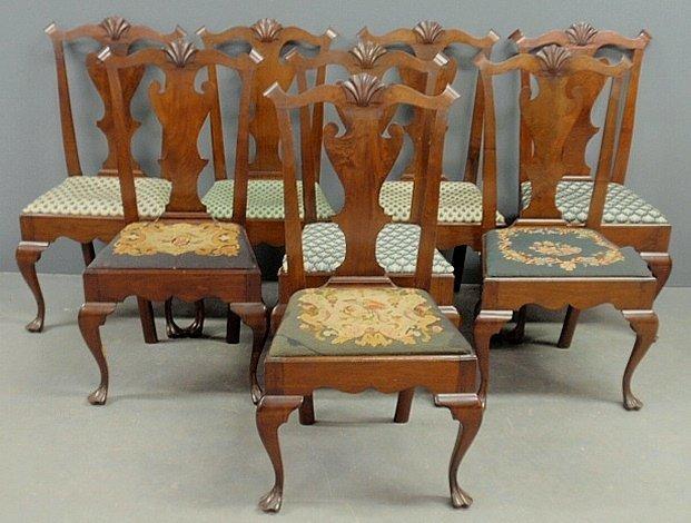 Fine set of eight Philadelphia Queen Anne style