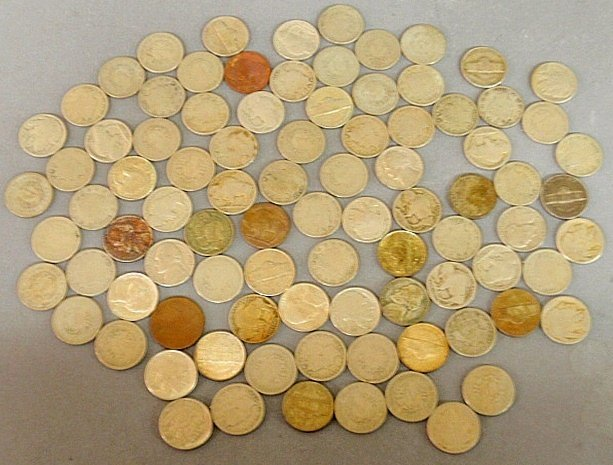Group of U.S. nickel coins- some 1900's, Liberty, Buffa