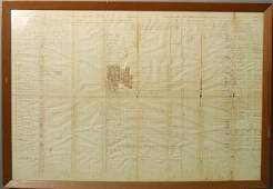 Framed Civil War roster, Irish Brigade, 69th Regiment,