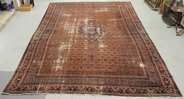 Palace size Bidjar oriental carpet with a red field,
