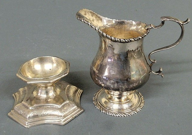 Rare French silver master salt, c.1730, with an