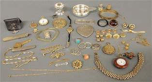 Group of jewelry and accessories TI 18k gold and