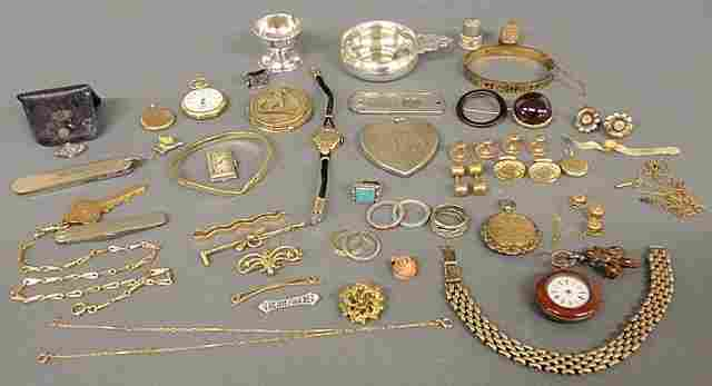 Group of jewelry and accessories TI: 18k gold and