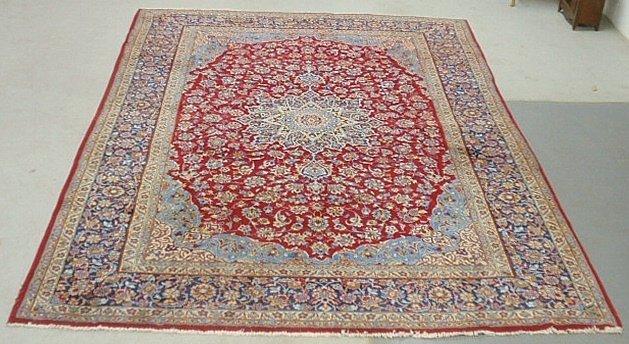 Room size Kashan oriental carpet with floral patterns