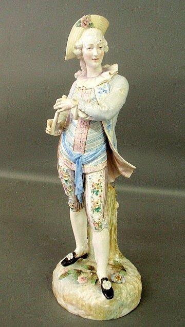Large Meissen standing figure of a gentleman.