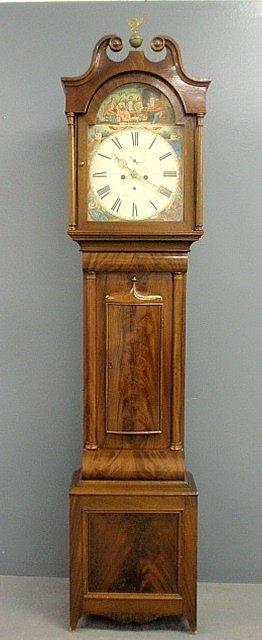 "Mahogany tall case clock, the face signed ""James Craig,"