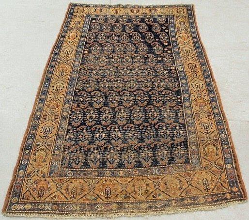 Persian oriental center hall carpet with blue center fi