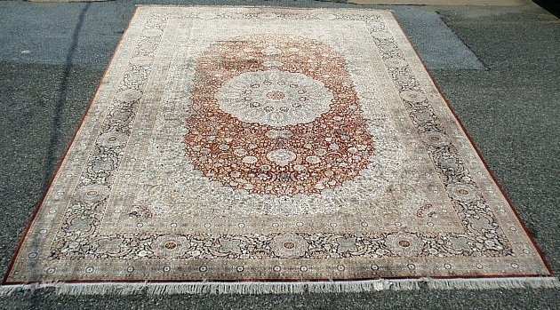 Palace size oriental carpet with overall floral pattern