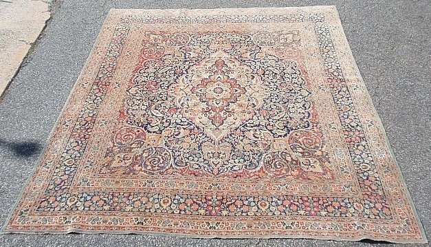 Room size Kashan oriental carpet with center medallion