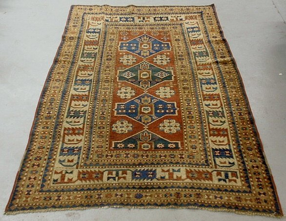 Large Kazak oriental carpet with overall geometric