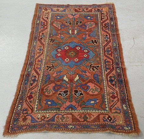 "Colorful Hamadan oriental hall carpet. 3'3""x5'8"""