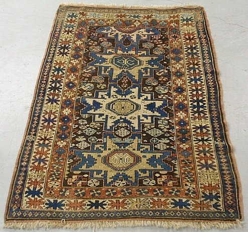 Colorful Shirvan oriental mat with overall geometric