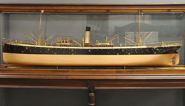 Massive finely detailed wood and brass builder's model - 2