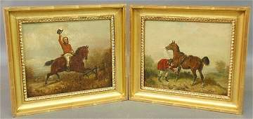 Hillyard JW English 19th c pair of oil on canvas