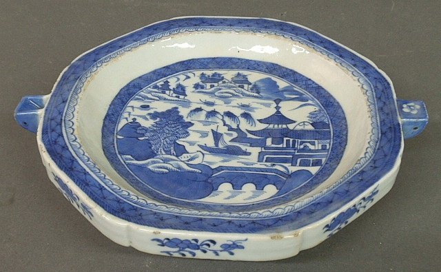 Chinese blue and white Canton porcelain hot water