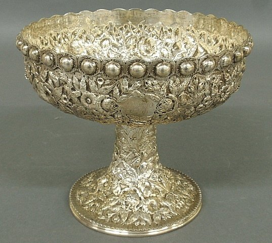 S. Kirk & Son sterling silver compote, 11 oz. capacity.