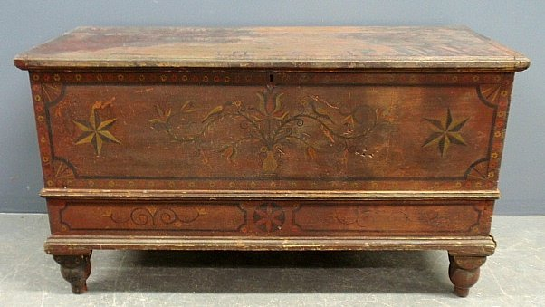 Mahantongo Valley, PA blanket chest, c.1860, with